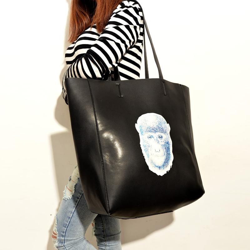 fashion vintage big bags monkey shoulder bag handbag picture package