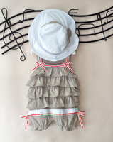 baby clothes sets girls' romper one-piece cap