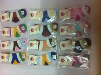 Genuine young folks Tongwa seamless socks cotton socks cartoon socks baby socks fit healthy male and female age 2-6