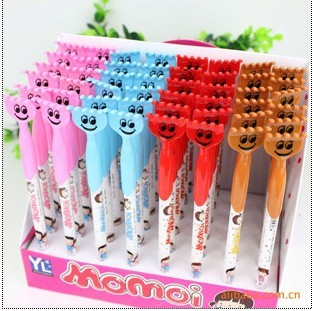 Free Shipping office supplies stationery Ball point pen super cute girl yourself creative promotional plastic ink ballpoint pen(China (Mainland))