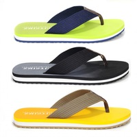 New 2014 Summer Flats Fashion Flip Flops Shoes Men Beach Sandals Flat Slippers Casual Yellow Green Black Plus Size 5338