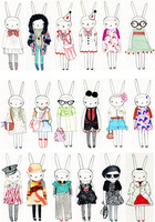 Rabbit Water transfer Iron-on Transfers For Clothes Heat Transfer Press Patches Stickers Drop Shipping Wholesale(no 1485944907)