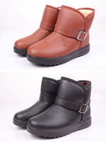2013 autumn winters  short boots  Men's belt buckle tube female warm boots for trail shoes boots  2082