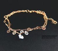 HEB036 Wholesale 14K rose Gold Plated Women tops Bracelets Fashion Jewelry Christmas pulseiras femininas pulseras mujer