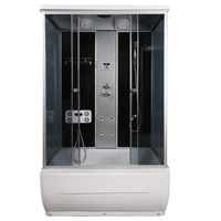 Bathroom shower cabin with bath bathroom steam room bath room rectangle 120 150