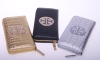 Free shipping 2013 fashionable wallet women brand genuine leather long clutches style
