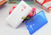10pcs/lot S Line Soft Gel TPU skin Case For Sony M35h Xperia SP,8 colors available , Free Shipping