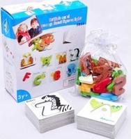 Child educational toys puzzle toy digital card letter cognitive puzzle