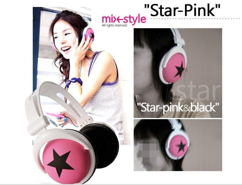 2013 Fashion big star folding noise avoid headphones Mic for phone 5 Freeshipping(China (Mainland))