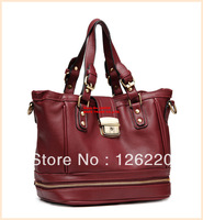 2013 new winter leisure bag  belt buckle decorated portable Shoulder Messenger Handbag