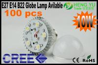 HENGYU Trade CREE 10W E27 E14 B22 High Power LED Light Globe Lamp Bulb 85-265V DHL free