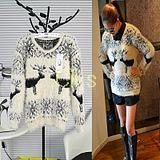 Cii 2013 new winter cute deer hair thick sweater Korean version of the hippocampus thick warm sweater bottoming