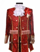 Male national clothes the groom married red set royal