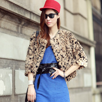 Fur leopard print rabbit fur short coat design fur 2013 women's picao