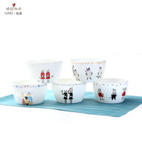 Billion ka ijarl fashion bone china ceramics 4.5 bowl tableware 5 piece set cat