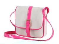 Free Shipping High Quality Fashion Casual Fluorescent PU Canvas Women Messenger Bag Handbags Shoulder Bag Bags For Women