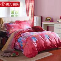 Textile 100% activity of cotton print piece set 100% cotton sheets bedding floweryness
