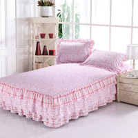 100% cotton bedspread 1.8 meters bed layered dress laciness bed skirt 100% cotton sheets laguan