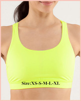 Free Shipping Cheap Brand Lululemon Yellow Bra With Size XS S M L XL Best Christmas Day Gift Tank Top