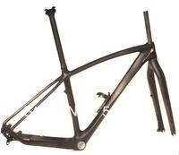 """FR217 Full Carbon Matt 29ER MTB Mountain Bike Frame  (BSA ) Fork Seatpost + Water Bottle Cage size : 17"""" 19"""""""