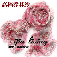 2013 georgette silk towel long design female cape scarf silk scarf beauty leopard print 8 1 - 20