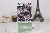 New design LUXO Lace flower Hard Back Case Cover For iphone 4g 4s /5 5s, With Retail Package, Free shipping