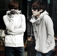 Men's active fashion casual big ears Scratched Velvet Hooded in autumn and winter for 2 colors and size M/L/XL/XXL