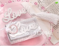Free Shipping Love  Bookmarks  with  Ribbon 40pcs/Lot
