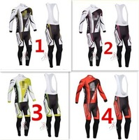 Rember Choose you want!! 2013 pro team #040 Thermal Fleece Cycling Jersey Long Sleeve and Cycling (bib) Pants GTZ069