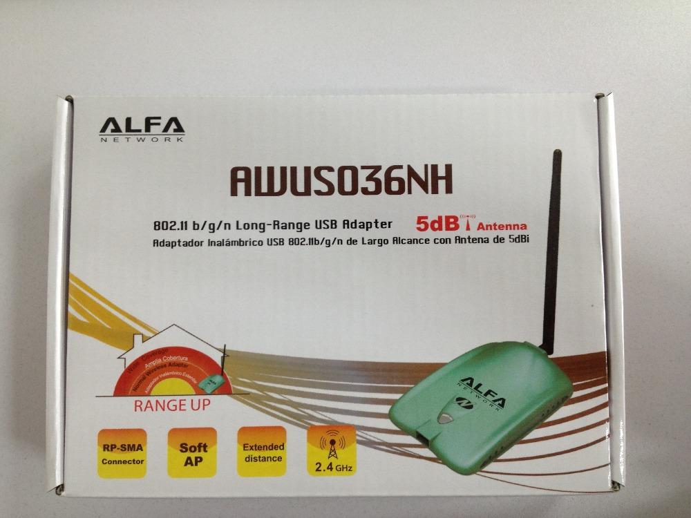 Free shipping new High power ALFA AWUS036NH 1000mw wifi module wifi usb adapter 5db antenna ralink3070 Chipset(China (Mainland))