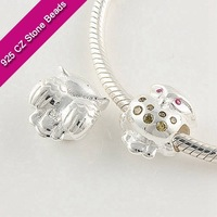 925 Silver European Brand Beads With GemStone, Handmade Gemstone Jewelry, Wholesale Jewelry SuppliesXS201