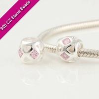 925 Silver European Brand Beads With GemStone, Fire Gemstone Jewelry, Cheap Jewelry Making SuppliesXS211C