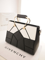 Free Shipping 2013 women's handbag women bags black and white color block shaping commercial shoulder bag