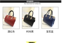 The new Korean fashion PU Hardware corners handbag