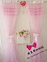 Vivian princess curtain pink rustic curtain shalian quality d1
