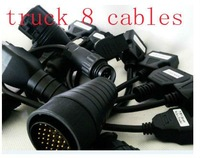 car diagnostic tool cables for autocom cdp+cables truck 8 cables include for Renault-12P Cable  and IVECO-30P Cable