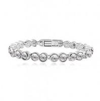 Wholesale white gold Plated rhinestone austrian Crystal Bracelet  fashion crystal jewelry make with au crystal element 1193