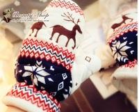 Free Shipping Christmas gift Christmas Gloves Santa Claus deer Snowflake Pattern Lady Mittens,Fashion cute cartoon warm Glove