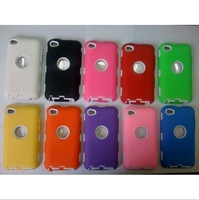 For Apple ipod touch 4 defender case with screen film protector water proof robot case 100pcs/lot DHL Free shipping