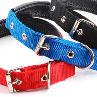 Pet collar dog collar iron wire buckle collar soft leather collar dog accessories