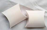 """Free Shipping 200pcs White Wedding Party Baby Shower Favor Pillow Box DIY Box Candy Jewellery Gift Boxes 3.5'x3"""""""