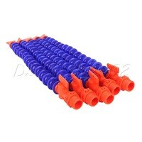 """5x Flat Nozzle 1/2"""" PT Adjustable Water Oil Coolant Pipe Hose for Lathe Milling"""