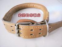 Round collars collar p chain dog collar cowhide PU chaplains genuine leather zhuaizhu pet supplies
