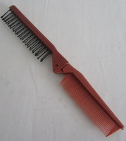 Free Shipping Red Pocket Size Portable Foldable AntiStatic Hair Combs Plastic Durable Brushes