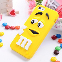 New 3D Soft Cute Silicone Rainbow bean smile Cover skin Case for Apple iPhone 5 1pc Free Ship