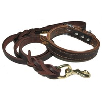 Pet supplies deep brown traction rope collar traction belt dog chain dog