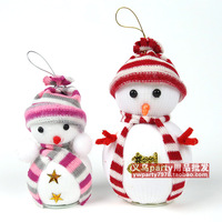 Min.order is $15 (Mix Order) New Year Christmas Decoration Supplies Christmas gift Christmas foam snowman doll small