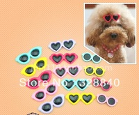 5 PCS/LOT Fashion sunglasses pet dog hairpin hair clips pet dog cat accessory small size, free shipping