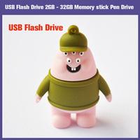 100% New Full Hot Gift Cartoon 2GB 4GB 8GB 16GB 32GB USB2.0 flash drive Memory Stick pen U Disk  FREE SHIPPING!!