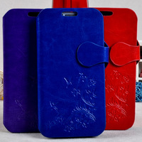 Brand leather skin bags 10pcs/1lot wholesale luxury flip case for samsung i9500 galaxy s4 book case accept mix-color order